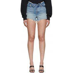 Blue Denim Bite Flip Shorts