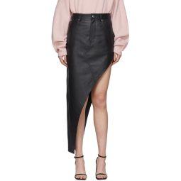 Black Leather Asymmetrical Skirt