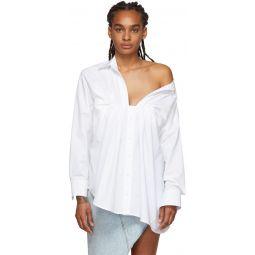 White Tucked Oxford Blouse