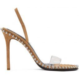 Brown Suede Nova Heeled Sandals
