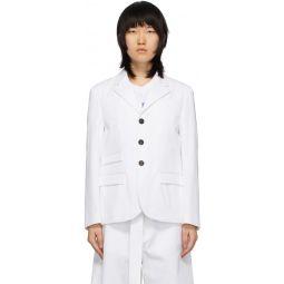 White Masculine Blazer