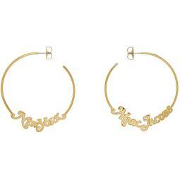 Gold New York Magazine Edition Small Logo Hoop Earrings