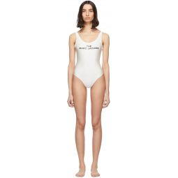White 'The Logo' One-Piece Swimsuit