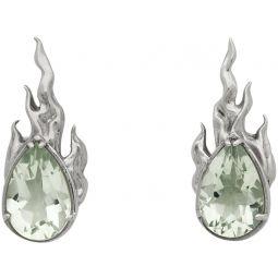 Silver Heat Earrings