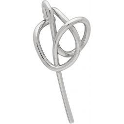 Silver Knot Single Left Ear Cuff