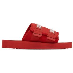 Red Double Strap Sandals