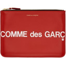 Red Large Huge Logo Pouch