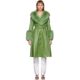 Green Fur Foxy Coat