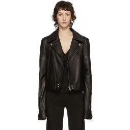 Black Leather Dracubiker Jacket