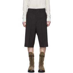Black Wool Astaires Shorts