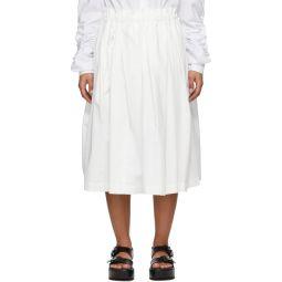 White Cloth Pull-On Skirt