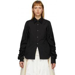 Black Cut-Out Sleeve Shirt