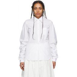 White Cut-Out Sleeve Shirt