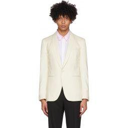 White Shawl Collar Blazer