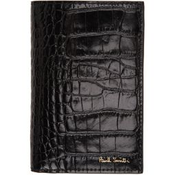 Black Croc Bifold Card Holder