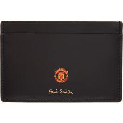 Black Manchester United Edition Vintage Rosette Card Holder