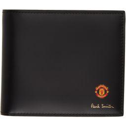 Black Manchester United Edition Vintage Rosette Wallet