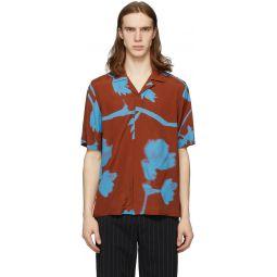 Brown & Blue Floral Camp Shirt