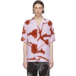 Pink & Red Floral Camp Shirt