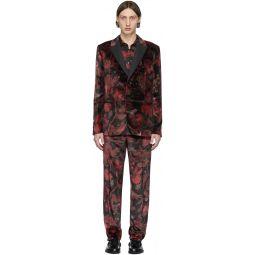 Red & Black Floral Goliath Suit