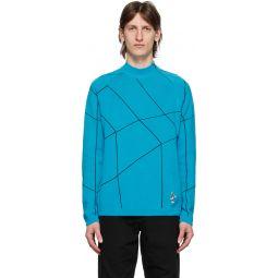 Blue Honeycomb Bunny Sweater