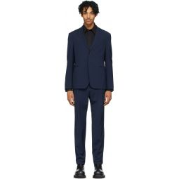 Navy Wool 2 Button Suit