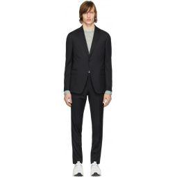 Black Wool Classic Suit