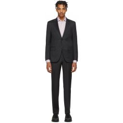 Grey Wool Micro Check Milan Suit