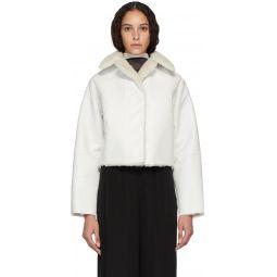 Reversible White Sheepskin Coat