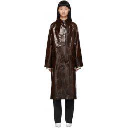 Brown Coated Skai Trench Coat