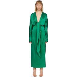 Green Silk Wrap-Around Gown