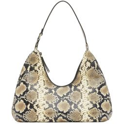Beige & Black Snake Amber Shoulder Bag