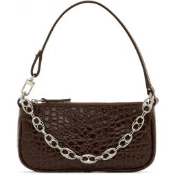 Brown Croc Rachel Mini Bag
