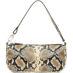 Beige & Black Snake Rachel Bag