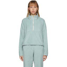 SSENSE Exclusive Blue Terry Diana Half-Zip Sweatshirt
