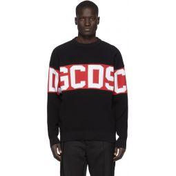 Black & Red Logo Sweater