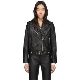Black Leather Polly Biker Jacket