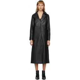 Black Melissa Leather Coat