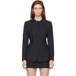 Black Trompe L'Oeil Tailored Jacket