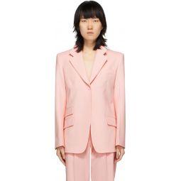 Pink Single-Breasted Blazer