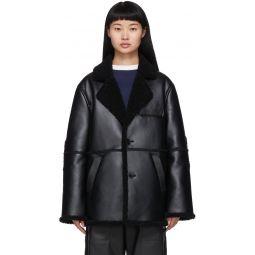 Black Faux-Sheepskin Coat