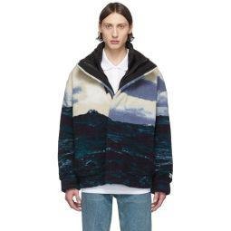 Blue Fleece Bomber Jacket