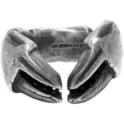 Silver Crab Claw Ring