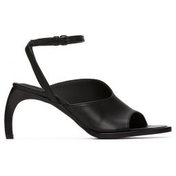 Black Curved Heel Sandals