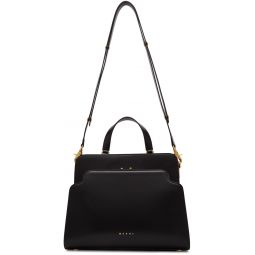 Black Trunk Reverse Top Handle Bag