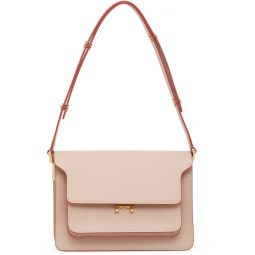 Pink Medium Saffiano Trunk Bag