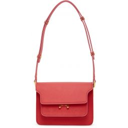 Red Mini Saffiano Trunk Bag