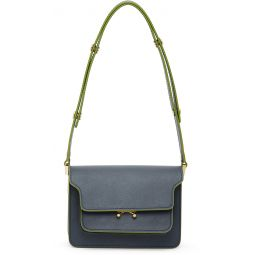 Blue Mini Saffiano Trunk Bag