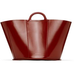 Burgundy Medium Tropicalia Tote