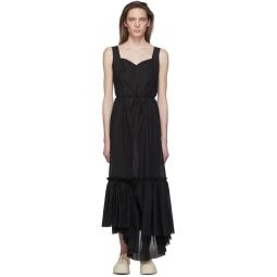 Black Ruffled Long Dress